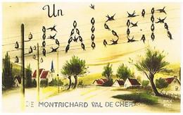 41  UN BAISER    DE MONTRICHARD  VAL  DE CHER    CPM  TBE   1251 - Montrichard