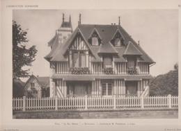 """Houlgate -villa """"Le Bas Mesnil"""" Et Son Plan -superbe Gravure- - Architectuur"""