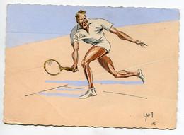 TENNIS Sports I.K 146 Un Joueur En Match Illustrateur  Editeur Yvon     D17 2019 - Tennis