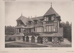 """Villers Sur Mer  -villa """"La Huchette""""  Et Son Plan -superbe Gravure- - Architectuur"""
