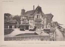 "Villers Sur Mer  -villa ""Castellamare""  Et Son Plan -superbe Gravure- - Architectuur"
