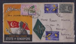 1963 Singapore Malaysia Malaya Mixed Stamps Cover To Australia - Singapour (1959-...)