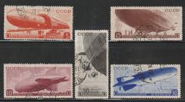 RUSSIE - N°33/7 Obl  (1934) Construction De Dirigeables - Usati