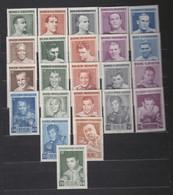 WORLD BOXING 23 CHAMPIONS  Slania Engraved Private Stamps COMPLETE SET RARE !!!  Boxen Boks Boxe Boxeo - Pugilato