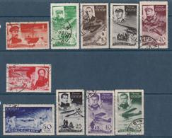 """RUSSIE - N°49/58 Obl (1935) Sauvetage Des Naufragés Du Brise-glace """"Tchéliouskine"""" - Usati"""
