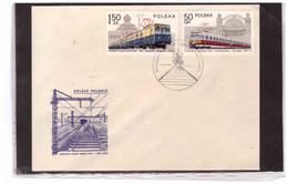 "TEM14911   -   WARZAWA  28.2.1978   /    FDC 4 COVERS   MICHEL NR. 2543/2550""  TEMATICA TRENI "" - Trains"
