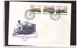 TEM14925   -  TAlLLIN ( Estonia )  17.10.1996   /     FDC  CAT. UNIFICATO Nr. 298/300 - Trains