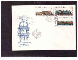 TEM14929   -   25.3.1986   /     FDC  CAT.  Y&T. Nr.  3149/3154 - Trains