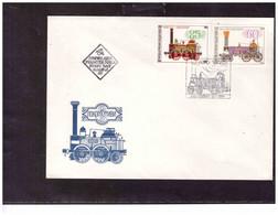 TEM14931   -   31.7.1985  /     FDC  CAT.  Y&T. Nr.  2852/2856 - Trains