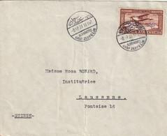 """EGYPTE - LETTRE """"Graf Zeppelin"""" Alexandrie Le 08/04/1931 (avec PA N°4) Pour Lausanne. - Aéreo"""