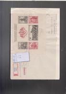 Tschechoslovakei Michel Cat.No. Cover Sheet 16B Mixed Reco - Storia Postale
