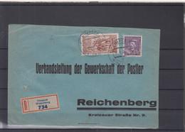 Tschechoslovakei Michel Cat.No. Cover Reco (3) - Storia Postale