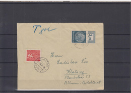 Tschechoslovakei Michel Cat.No. Cover Reich With Duty - Segnatasse