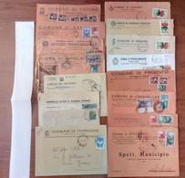 Lotto  BE -  37  Buste Storia Postale Italia - Vari Comuni - Sammlungen