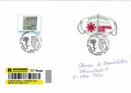 [A4] FFP2-Maske - Corona - Ringelblume Weinregion Traisental - Teilimpfung Schauer Bürgel - Reko St. Pölten ÖVEBRIA 2021 - 2011-2020 Lettere