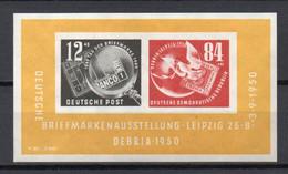 - ALLEMAGNE DDR Bloc N° 1 Neuf * MH - Exposition Philatélique De Leipzig 1950 - Cote 100,00 € - - Blocks & Sheetlets