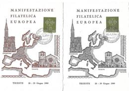 Europa Cachet Manuel Poste Italienne 28.6.1960 EUROPA Trieste - European Ideas