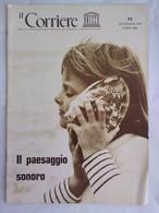 Corriere Unesco 11 1976 Arpia Candeliere Arte Orafa Suoni Perduti Voce Umana Territori Sonori Psicologia Rumore Schafer - Arte, Design, Decorazione