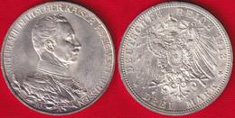 "Germany / Prussia 3 Mark 1913 Km#535 AG ""Reign Of King Wilhelm II"" - 2, 3 & 5 Mark Silber"