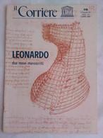 Corriere Unesco 10 1974 Leonardo Manoscritti Codice Madrid Vergine Rocce Teatro Circolare Monumento Sforza Macchine - Arte, Design, Decorazione