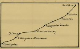 XL-661  Chemin De Fer De Chimay   13 Scans Zegels En Fragmenten - Other