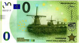 Billet Memo Euro - 0 Euro - Pays-Bas - Kinderdijk (2018) - Autres