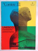 Corriere Unesco 3 1976 Sagoma Riposo Joan Mirò Muro Sole Rolf Ibach Henry Moore Julian Juxley Velo Sabbia Nefertari - Arte, Design, Decorazione