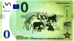Billet Memo Euro - 0 Euro - Belgique - Pairi Daiza (2018) - Autres