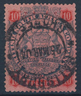 1896 British South Africa (Rhodesia) VF Used The Very High Value 10 Shillings Value YT 41 ,85 Euro - Other