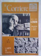 Corriere Unesco 7 1970 Lenin Arte Giava Empiriocriticismo Engels Marx Iljc Uljanov Minoranze Tempio Mandut Donne Palmira - Arte, Design, Decorazione