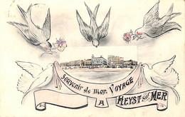 Heist - Heyst - Souvenir De Mon Voyage (colorisée 1909 Phototypie Marco Marcovici) - Heist