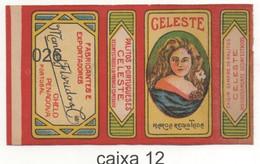Caixa De Palitos Portugueses CELESTE - Manuel Flórido & Cia, Chelo Penacova Portugal - Non Classificati