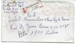 Portugal , 1986 , Mechanical Postmark And Registration Label 8400 LAGOA ,  Algarve - Marcofilia