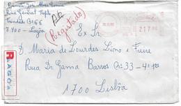Portugal , 1990 , Mechanical Postmark And Registration Label 8400 LAGOA ,  Algarve - Marcofilia