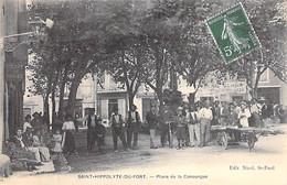30 - SAINT HIPPOLYTE DU FORT : Place De La Canourgue - CPA Village ( 3.950 Habitants) - Gard - Other Municipalities