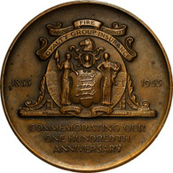 United States Of America, Médaille, Firemen's Insurance Company Of Newark New - Other