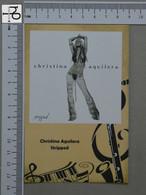 POSTCARD - CHRISTINA AGUILERA -  LP'S COLLETION -   2 SCANS  - (Nº45155) - Music And Musicians