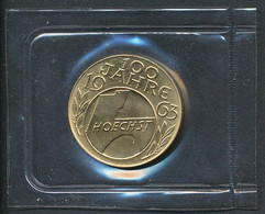 Goldmedaille Farbwerke Hoechst 1963 Im Original Blister Eingeschweißt    +++ Verkaufspreis Unter Aktuellem Goldwert +++ - Autres