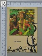 POSTCARD - JOE DASSIN -  LP'S COLLETION -   2 SCANS  - (Nº45167) - Music And Musicians