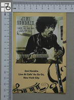 POSTCARD - JIMI HENDRIX -  LP'S COLLETION -   2 SCANS  - (Nº45168) - Music And Musicians