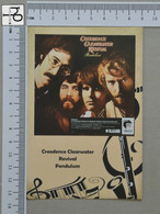 POSTCARD - CREDENCE CLEARWATER REVIVAL -  LP'S COLLETION -   2 SCANS  - (Nº45173) - Music And Musicians