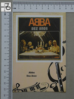 POSTCARD - ABBA -  LP'S COLLETION -   2 SCANS  - (Nº45178) - Music And Musicians