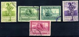 España Nº 435, 437/39, 445. Año 1929 - Oblitérés
