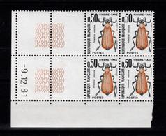 Coin Daté - Taxe YV 105 N** Luxe Coin Daté Du 9.12.81 - Portomarken