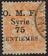 Syrie Obl. N°  47 - Type Blanc Surchargé 75 Centièmes Sur 3c Orange - Usati