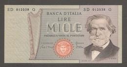 """Italia - Banconota Non Circolata FDS UNC Da 1000 Lire """"Verdi Secondo Tipo"""" P-101h - 1981 #19 - 1000 Liras"""