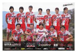 CARTE CYCLISME GROUPE TEAM ASADA  2008 - Wielrennen