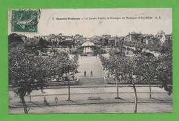 64 - Biarritz Moderne - Le Jardin Public, Le Kiosque De Musique Et Les Villas - Biarritz