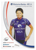 CARTE CYCLISME IVANDA EIDUKA TEAM RIETUMU - RIGA  2008 - Wielrennen