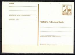 88g * BERLIN GANZSACHE MIT ANTWORT * 1 FEINSTE WERTE BURG LUDWIGSTEIN * MICHEL * POSTFRISCH **!! - Postkarten - Ungebraucht
